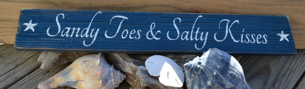 Sandy Toes & Salty Kisses - The Sign Shoppe - 1