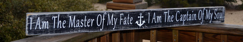 "40"" Nautical Decor Wood Sign, Anchors, Beach Decor, Coastal Decor, Wood Sign, Hand Painted, Reclaimed Wood, Quote, Art"