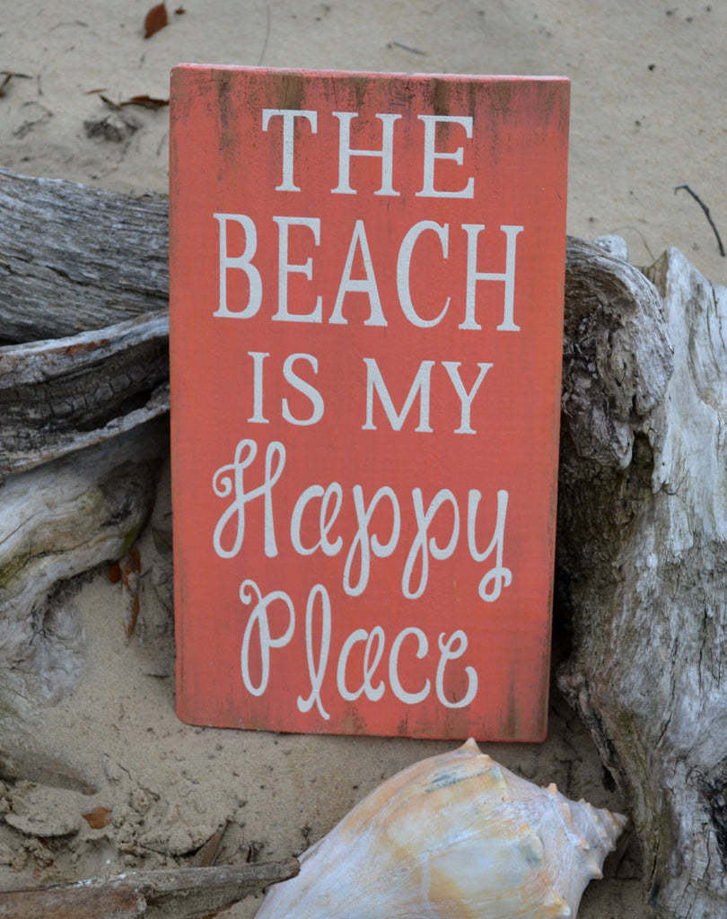 The Beach Is My Happy Place, Coral - The Sign Shoppe