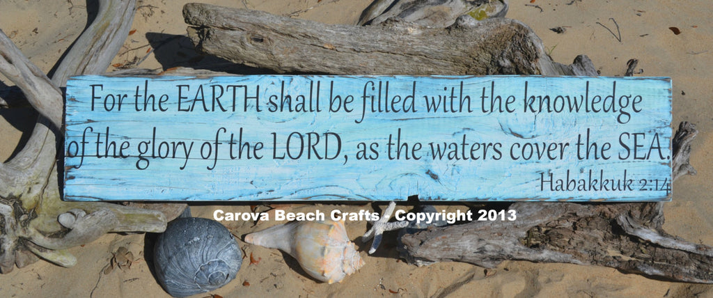 Scripture - Ocean - Beach Decor - Verse - Beach Wall Decor - Beach House - Home - Beach Theme - Coastal - Nautical - Beach Signs - The Sign Shoppe