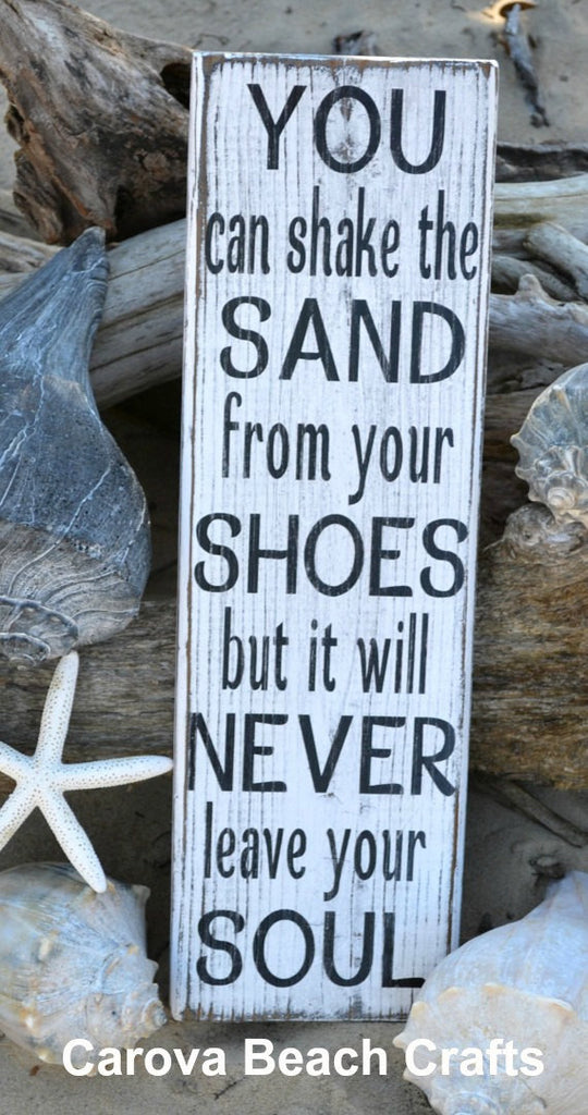 You Can Shake The Sand From Your Shoes - Beach Sign Weathered Rustic Distressed Beach Decor Coastal Wood Wall Hanging Beach House Home - The Sign Shoppe