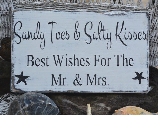 Beach Wedding - Beach Wedding Sign - Custom Beach Colors - Beach Decor - Guest Book - Wishes - Coastal Wedding - Painted, No Vinyl -  Rustic - The Sign Shoppe - 1