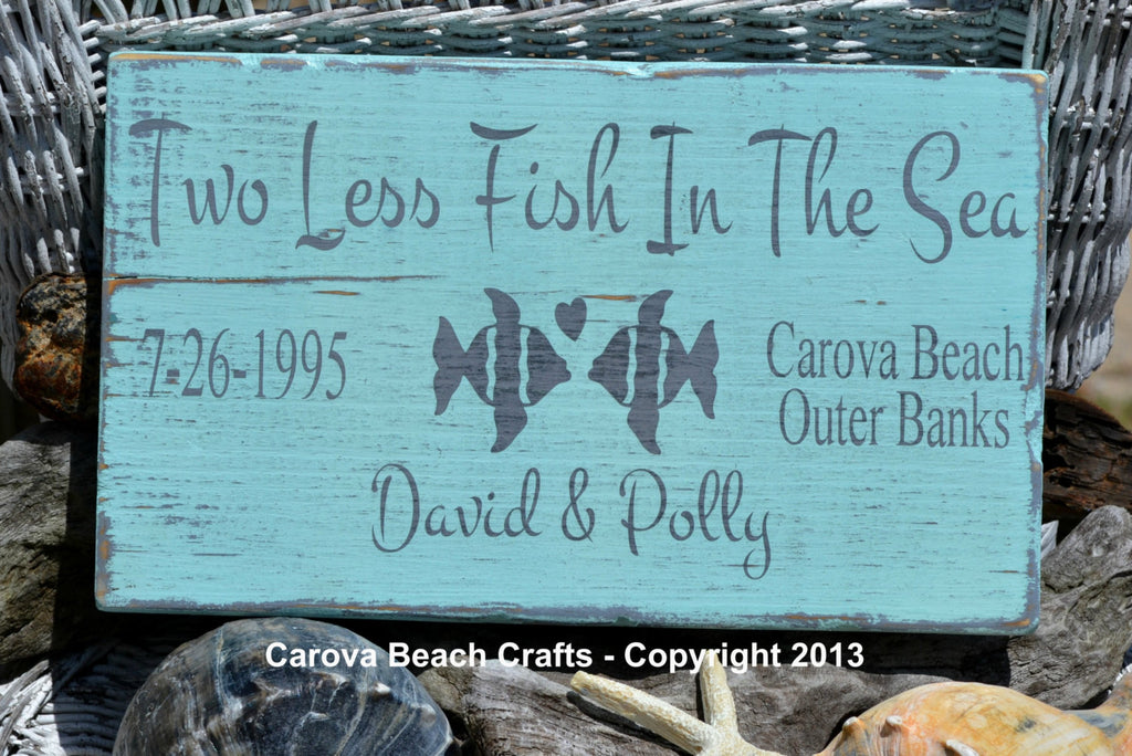 Two Less Fish InThe Sea - Name  Date Beach Location - The Sign Shoppe