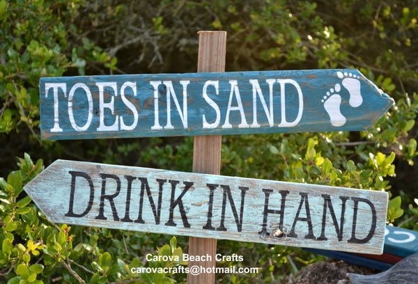 Beach Wedding Sign - Beach Sign - Beach Decor - Beach Theme - Coastal - Directional - Outdoor - Yard - Painted, No Vinyl - Driftwood - The Sign Shoppe