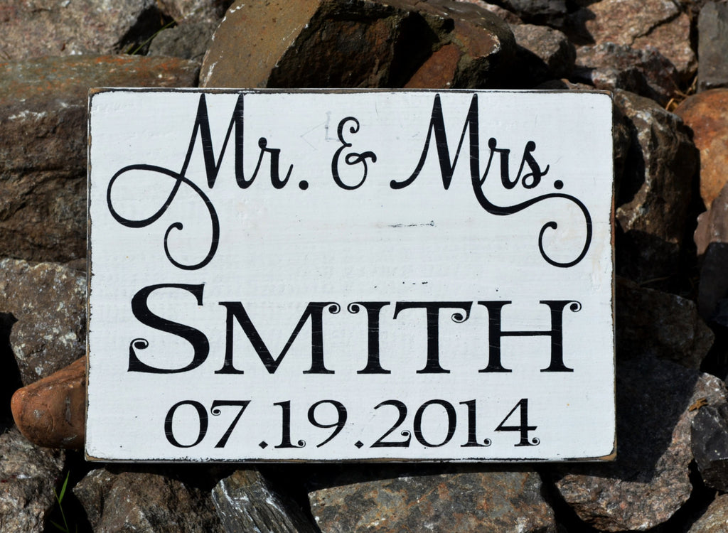 Personalized Wedding Sign Unique Gift Mr Mrs Last Family Name Rustic Decorations Planning Bridal Shower Engagement