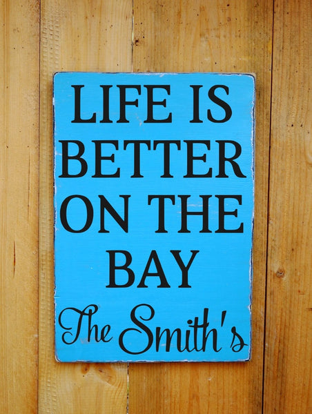 Life Is Better At The Beach Cottage Family Name - The Sign Shoppe - 2