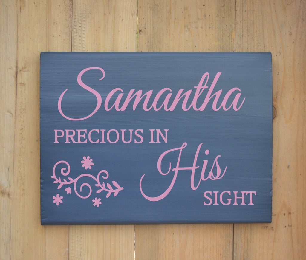Personalized Girls Room Nursery Decor Wood Sign Baby Gift Name Scripture Bible Verse Whimsical Wooden Plaque Painted Christian Gift - The Sign Shoppe