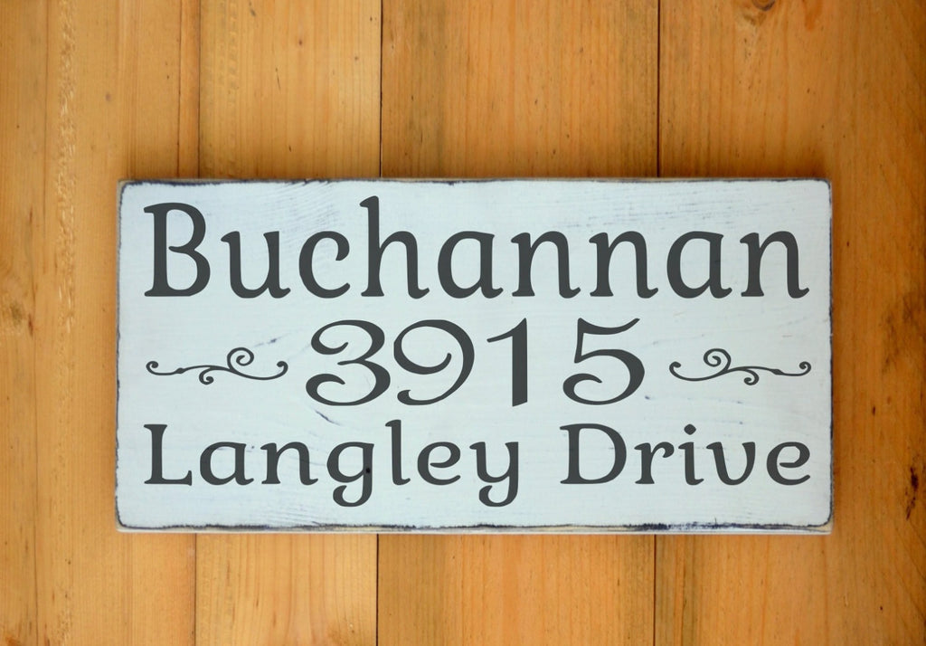Personalized House Address Sign Outdoor Home Custom Home Wood Sign Street Name House Number Road Driveway Location Family Last Name Plaque - The Sign Shoppe