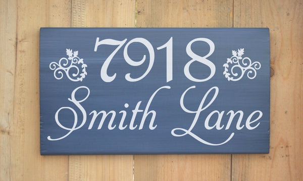 Outdoor House Address Numbers Wood Sign Personalized Outside Home Wooden Custom Street Name
