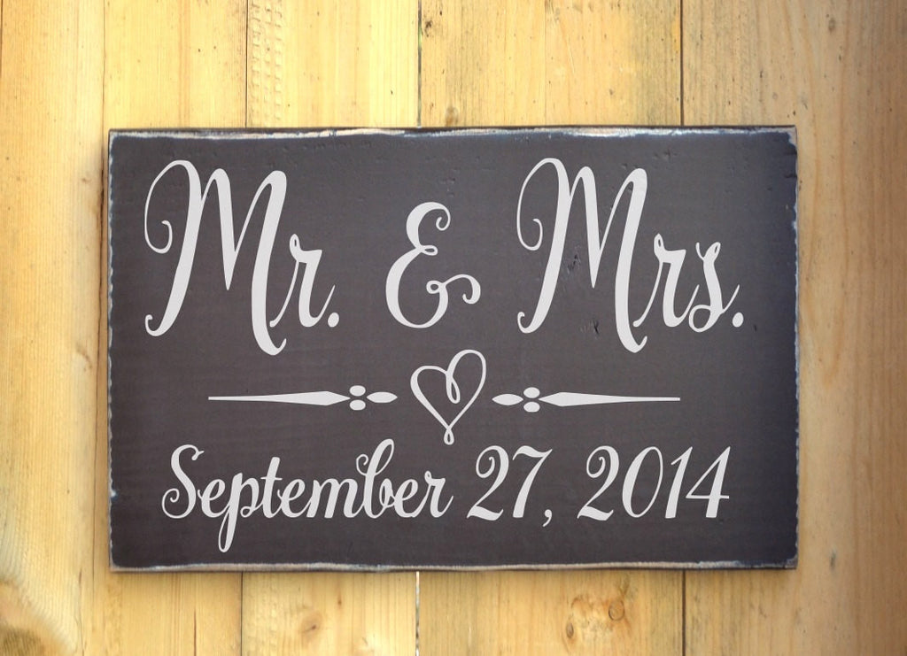 Wedding Sign Rustic Sweetheart Table Decor Personalized Wedding Wood Plaque Gift Mr Mrs Winter Wedding Day Important Date Woodland Fairytale - The Sign Shoppe