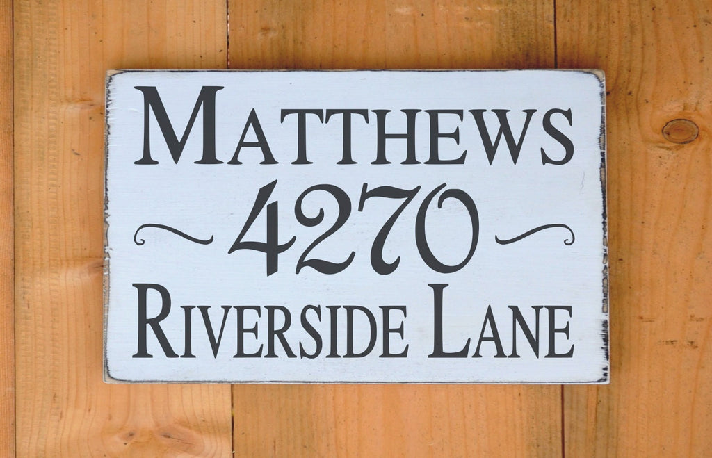 Personalized Family Name Sign Gift Outdoor Custom House Address Home Wooden Plaque Street Name Number Road Porch Entry Welcome Gifts