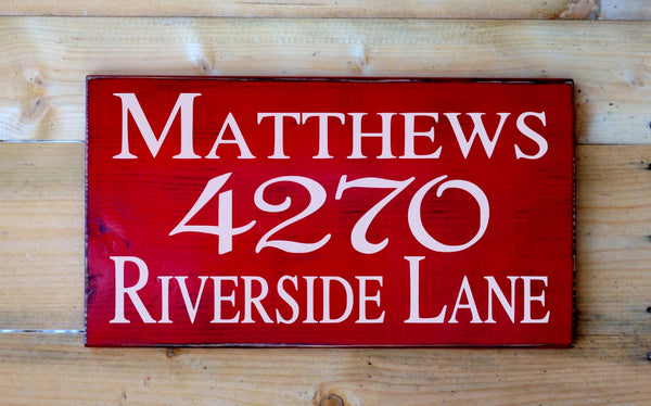 Personalized Family Name House Address Wood Sign Outdoor Home Numbers Plaque Custom Wood Signs Street Name Numbers