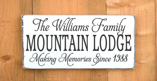 Mountain Sign Personalized Mountain House Family Name Sign Custom Home Wood Plaque