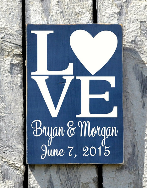 Rustic Beach Wedding Sign Personalized Anchor Nautical Love Signs Wedding Shower Gift Bride Groom Names Rustic Ocean Sea Wood Plaque - The Sign Shoppe - 3