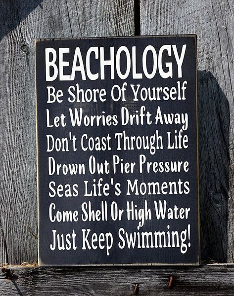 Beachology Beach Advice Sign - The Sign Shoppe - 2