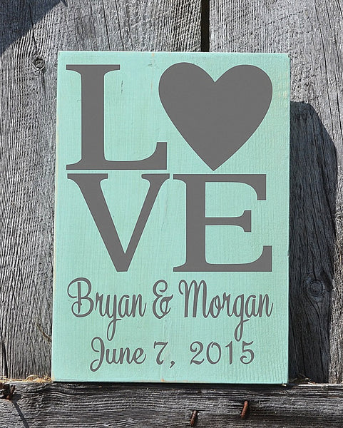 Rustic Beach Wedding Sign Personalized Anchor Nautical Love Signs Wedding Shower Gift Bride Groom Names Rustic Ocean Sea Wood Plaque - The Sign Shoppe - 4