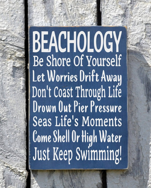Beachology Beach Advice Sign - The Sign Shoppe - 1