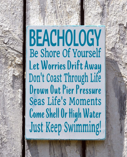 Beachology Beach Advice Sign - The Sign Shoppe - 3