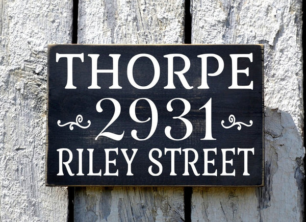 Custom Home Address Sign Personalized With Last Name And Street Address - The Sign Shoppe - 2
