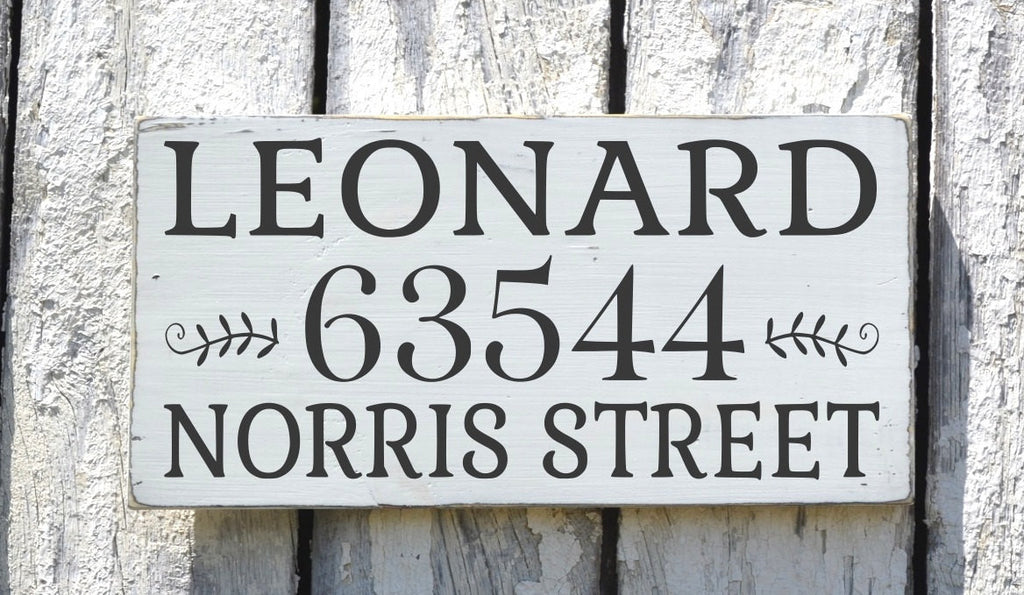 Personalized Address Signs Outdoor House Street Addresses Plaque Painted Last Family Names Numbers New First Home Entry Signs Wedding Gift - The Sign Shoppe
