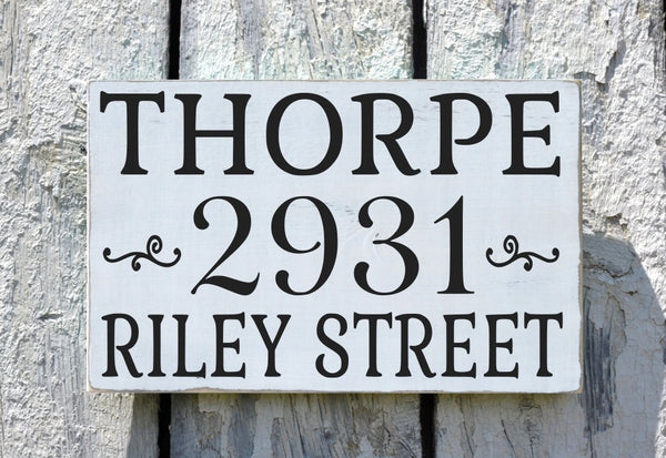 Custom Home Address Sign Personalized With Last Name And Street Address - The Sign Shoppe - 1