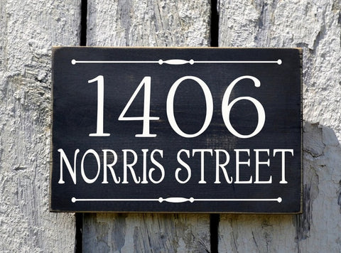 Address Plaque, Custom House Numbers Sign, Street Name - The Sign Shoppe - 1