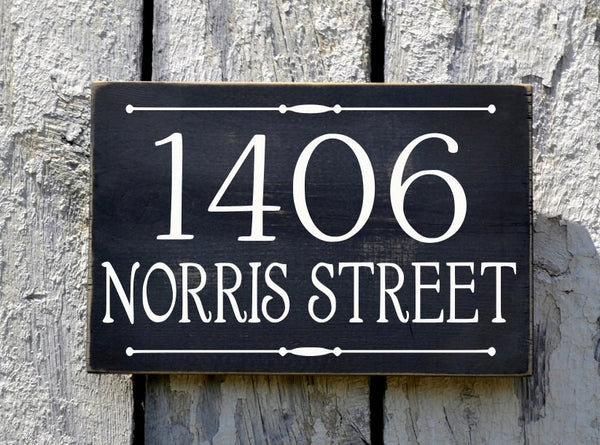 Custom Address Plaque Large Personalized Numbers House Sign Painted Outdoor Wood New Home Number Hanging Lamp Post Stake Porch Gift Signs - The Sign Shoppe - 5