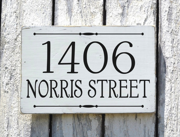 Custom Address Plaque Large Personalized Numbers House Sign Painted Outdoor Wood New Home Number Hanging Lamp Post Stake Porch Gift Signs - The Sign Shoppe - 4