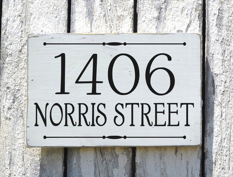 Address Plaque Custom House Numbers Sign Personalized - The Sign Shoppe - 1