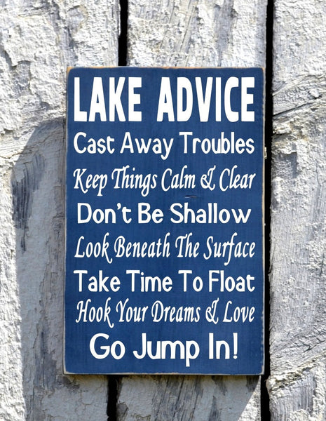 River House Decor - River Sign - Wisdom From The River Sign - Advice River Rules Wood Plaque - Lake Home Gift - Cabin Cottage Wall Hanging - The Sign Shoppe - 4