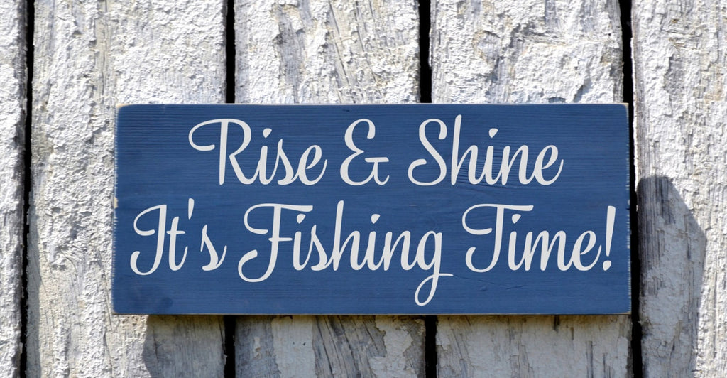 Fishing Sign Rustic Fish Wall Art Plaque Gifts For Fisherman Men Grandpa Pop Man Cave Him Guys Cabin Lodge Theme Lake Beach Sign Country - The Sign Shoppe