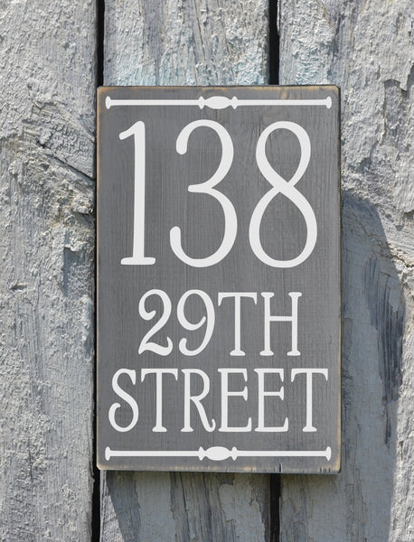 Address Plaque Outdoor House Numbers Sign Vertical - The Sign Shoppe - 2