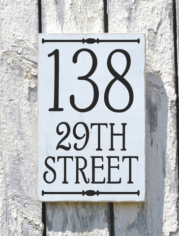 Address Plaque Outdoor House Numbers Sign Vertical - The Sign Shoppe - 1