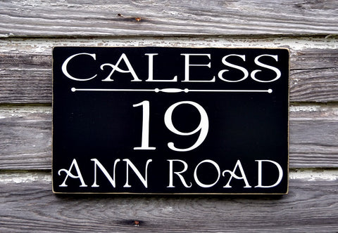 Address Plaque House Numbers Sign Personalized Name Last Names Family Outdoor Decor - The Sign Shoppe