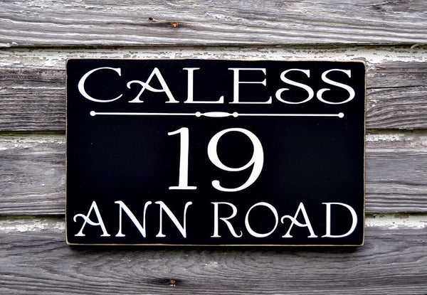 Custom Address Plaque Large Personalized Numbers House Sign Painted Outdoor Wood New Home Number Hanging Lamp Post Stake Porch Gift Signs - The Sign Shoppe - 3