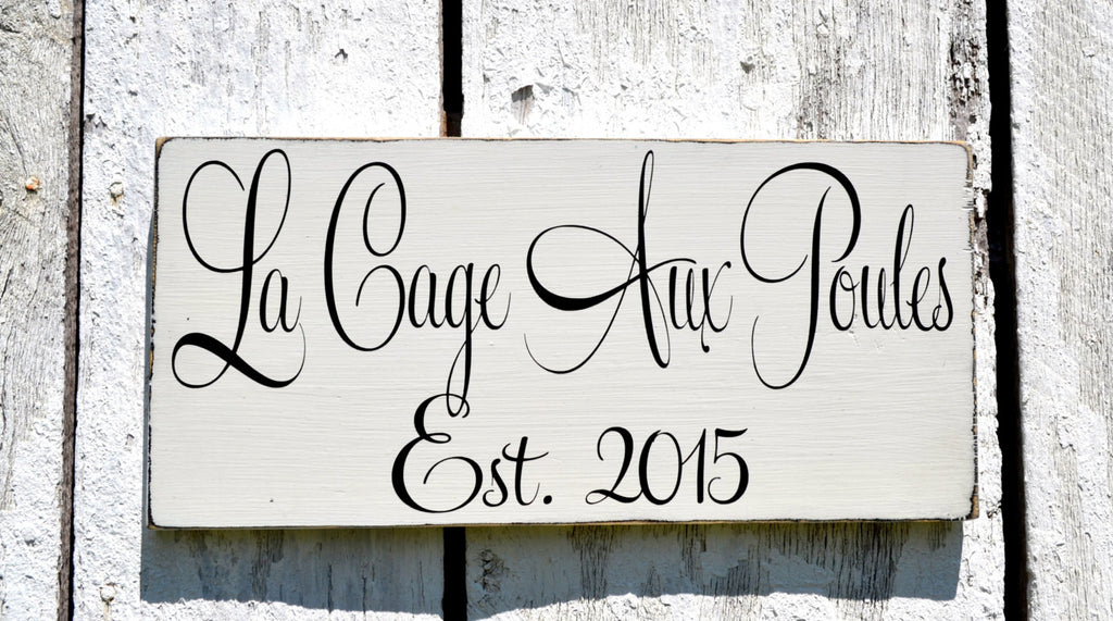 Farm House Decor French Cottage Chic Chicken Coop Hen House Custom Wood Plaque Rooster Farming Signs Outdoor Decor Barn Wall Art Rustic Chic - The Sign Shoppe