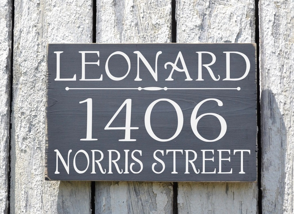 Custom Address Plaque Large Personalized Numbers House Sign Painted Outdoor Wood New Home Number Hanging Lamp Post Stake Porch Gift Signs - The Sign Shoppe - 1