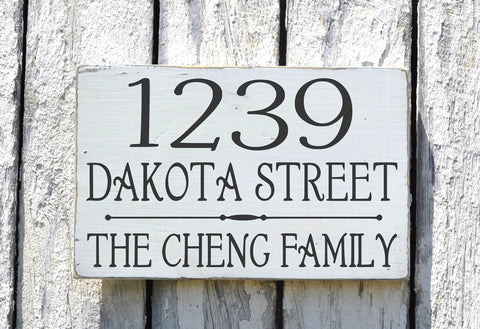 Address Sign With Personalized Family Name - The Sign Shoppe - 1