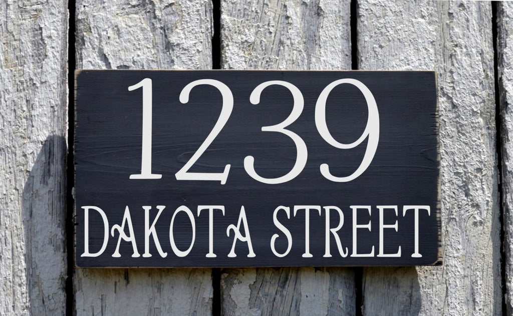 Outdoor Address Plaque Large House Numbers Sign Custom Personalized - The Sign Shoppe