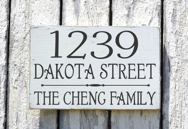 Address Sign Custom House Numbers - The Sign Shoppe - 5