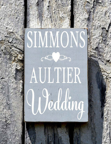Welcome Wedding Sign CUSTOM COLORS Personalized Directional This Way Entrance Decor Shabby Country Fairytale Vintage Beach Ceremony Plaque - The Sign Shoppe - 2