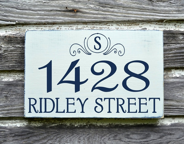 Address Plaques Outdoor House Numbers Sign Monogram Personalized Family - The Sign Shoppe - 2