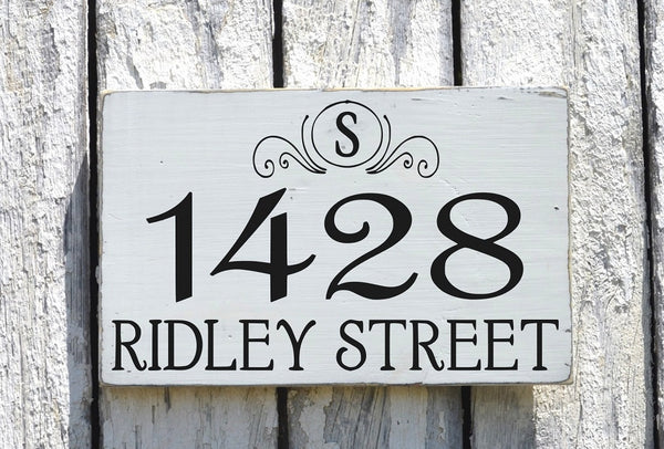 Address Plaques Outdoor House Numbers Sign Monogram Personalized Family - The Sign Shoppe - 3