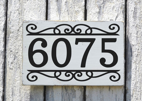Address House Numbers Signs Personalized Outdoor Large Number Outdoor Exterior Home Plaque Painted Hanging Sign Street Yard Lawn Post Gift - The Sign Shoppe