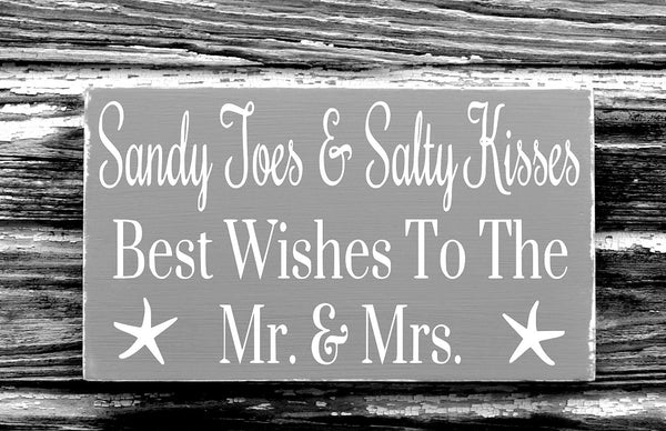 With Sandy Toes Salty Kisses Best Wishes Mr Mrs - The Sign Shoppe - 2