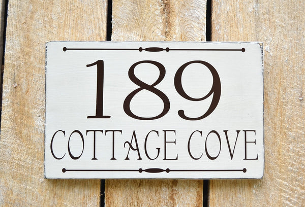 Personalized Custom Cottage House Numbers Sign - The Sign Shoppe - 1