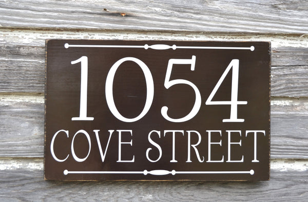 Personalized Custom Cottage House Numbers Sign - The Sign Shoppe - 2