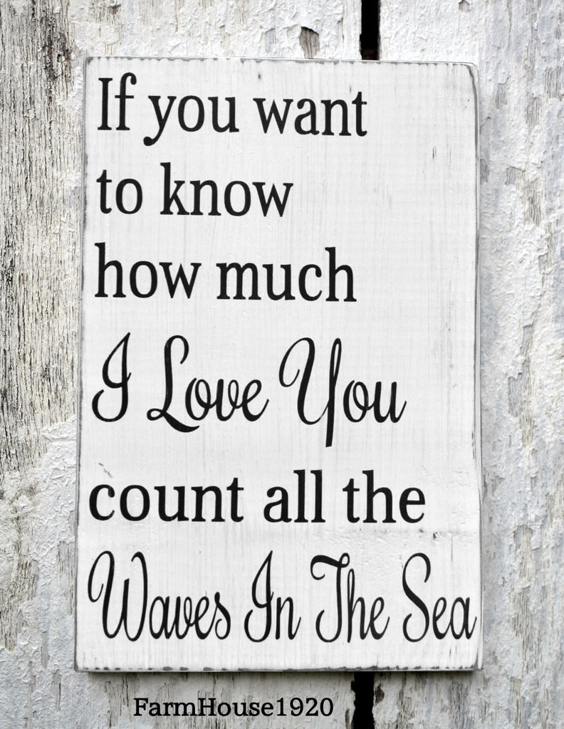 Count The Waves Of The Sea - The Sign Shoppe