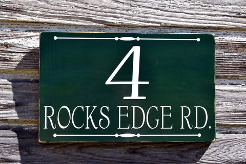 Address Plaque Custom Outdoor House Numbers Sign Street Sign - The Sign Shoppe - 1
