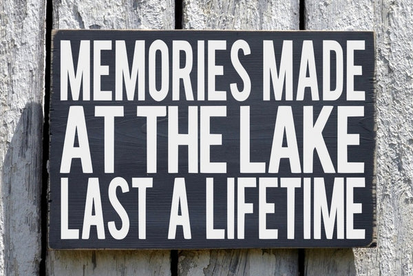 Custom Lake House Signs, Lakes Life Decor, HAND PAINTED Wall Wooden Plaque, Lake Memories Gifts, Beach House River Cabin Cottage Style